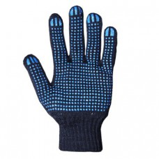 Перчатки с ПВХ 4 нити (10) Точка чёрные
