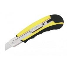 Нож строительный 18мм (прорезиненный корпус)