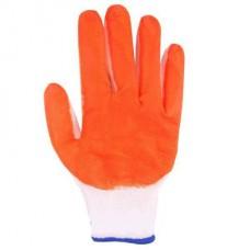 """Перчатки нейлоновые """"Одинарный облив (оранжевые) Люкс"""""""